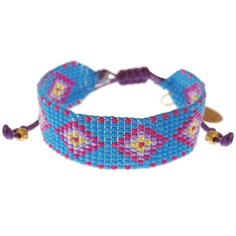 armband - Ollin Cyan Aztec bracelet