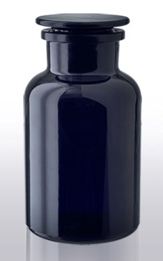 2 liter apothekersfles miron violet glas