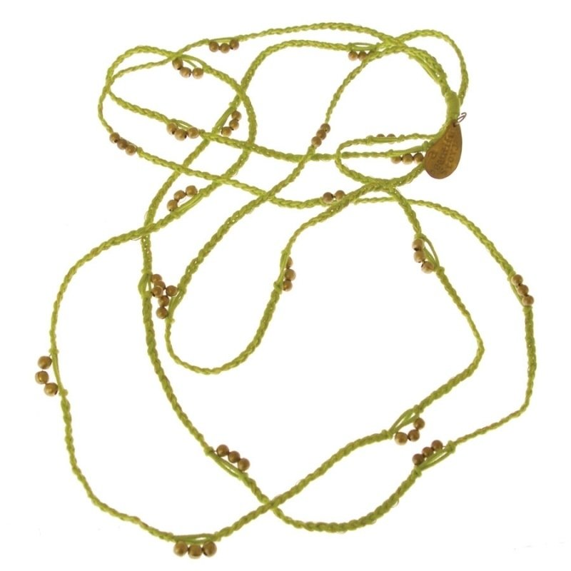 ketting - Flyn lime necklace