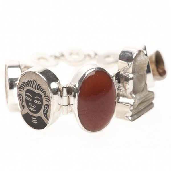 armband - Lucky Buddha bracelet red onyx