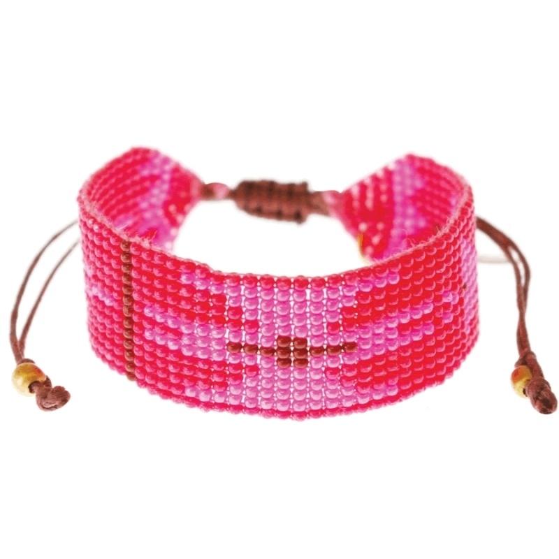 armband - Malinalli orange Aztec bracelet