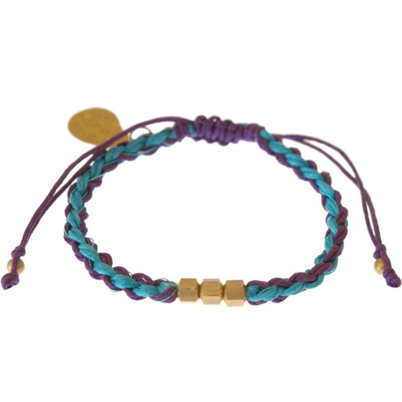 armband - Flush 2 string purple bracelet