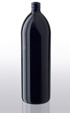 1 liter waterfles miron violet glas