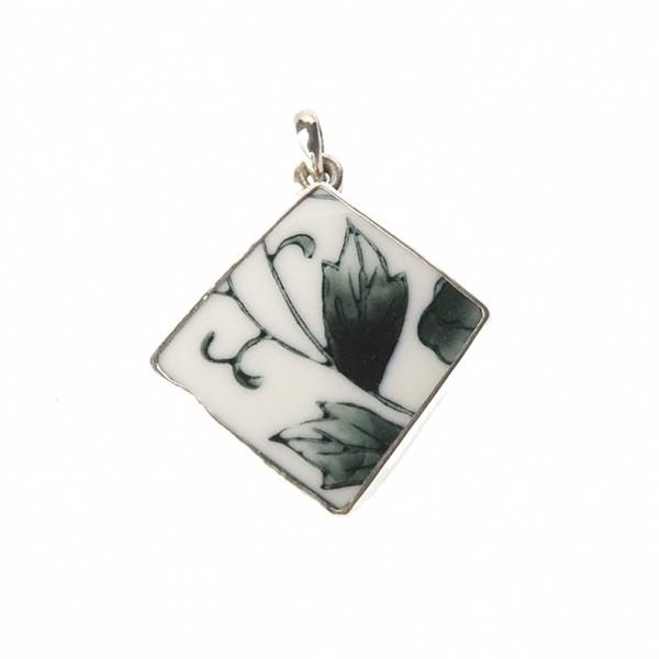 hanger - Lucky Buddha Black/white tile pendant