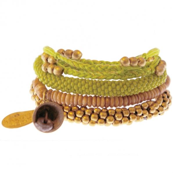 lime kleurige armbanden set A Beautiful Story