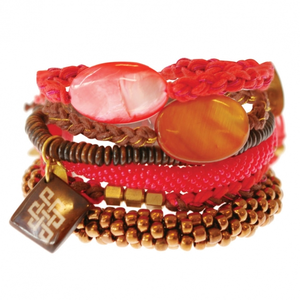 Rood bruine armbanden A Beautiful Story