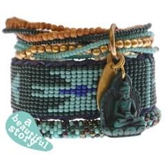 A Beautiful Story armbanden setje groen