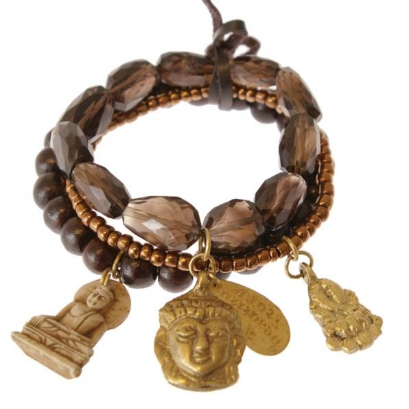 handgemaakte armbanden van A Beautiful Story bruin