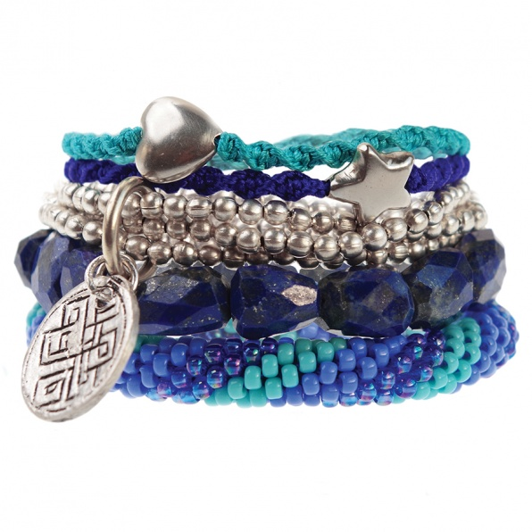 A Beautiful Story armbanden turquoise blauw
