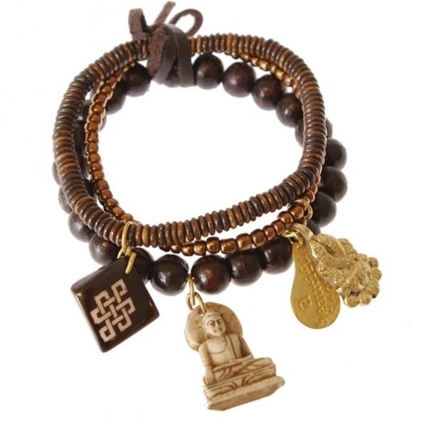 handmade bracelet A Beauiful Story brown