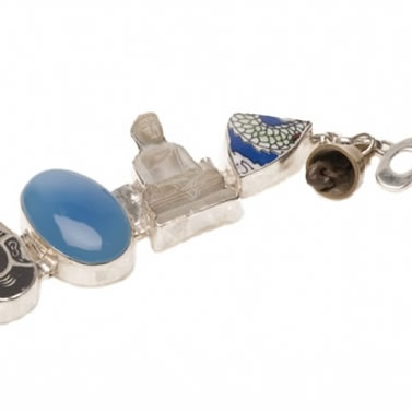 A Beautiful Story Lucky Buddha Bracelet Blue onyx detail