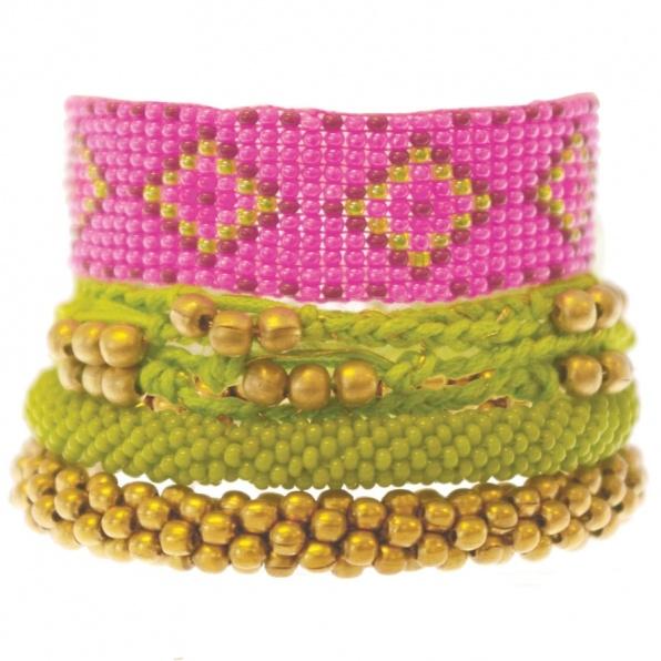 A Beautiful Story rose lime armband