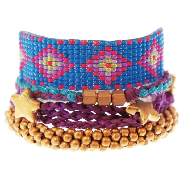 cyan color bracelet set A Beautiful Story
