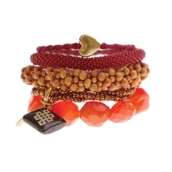 handgemaakte armbanden uit Nepal A Beautiful Story oranje
