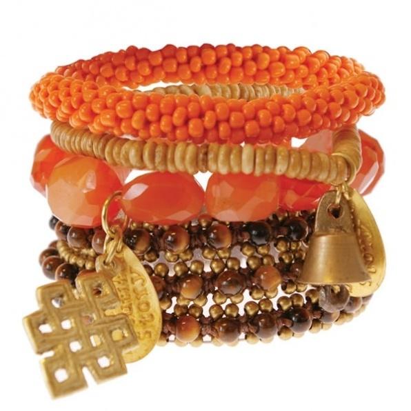 armbanden set oranje A Beautiful Story