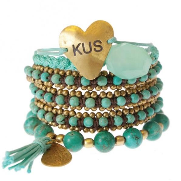 A Beautiful Story armbanden setje turquoise
