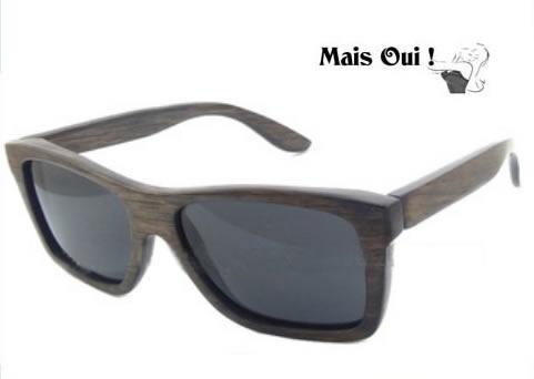 Mais Oui ! houten zonnebril Unique Bamboe Noir