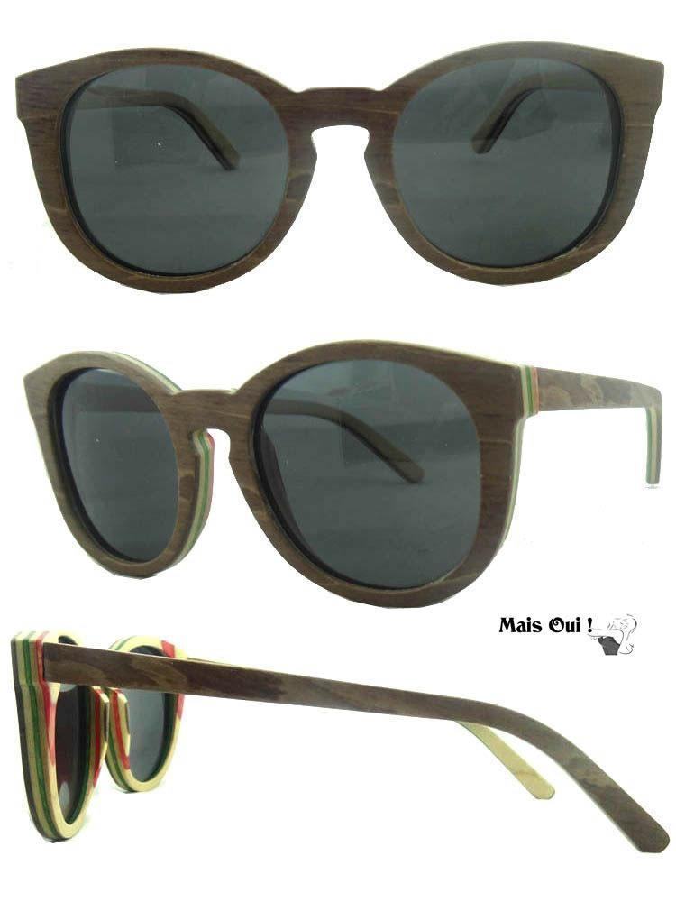houten zonnebril skateboard style