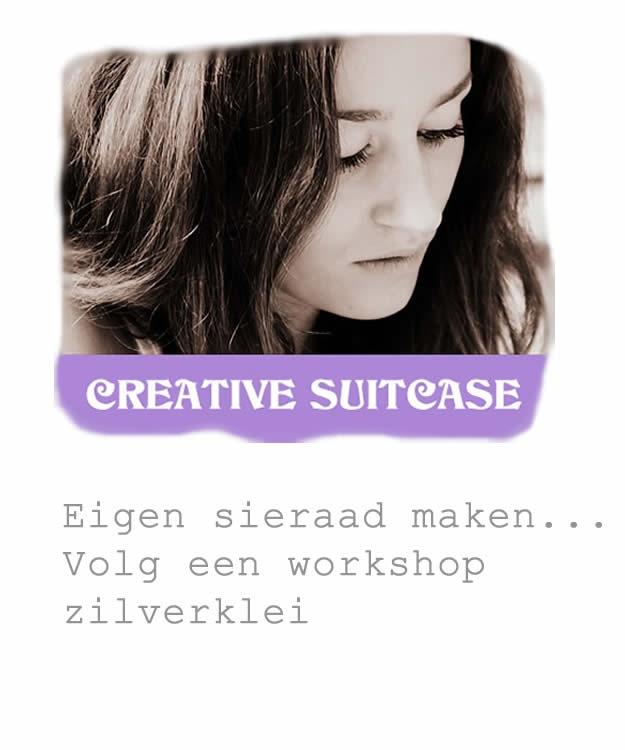 workshop zilverklei volgen bij Creative Suitcase
