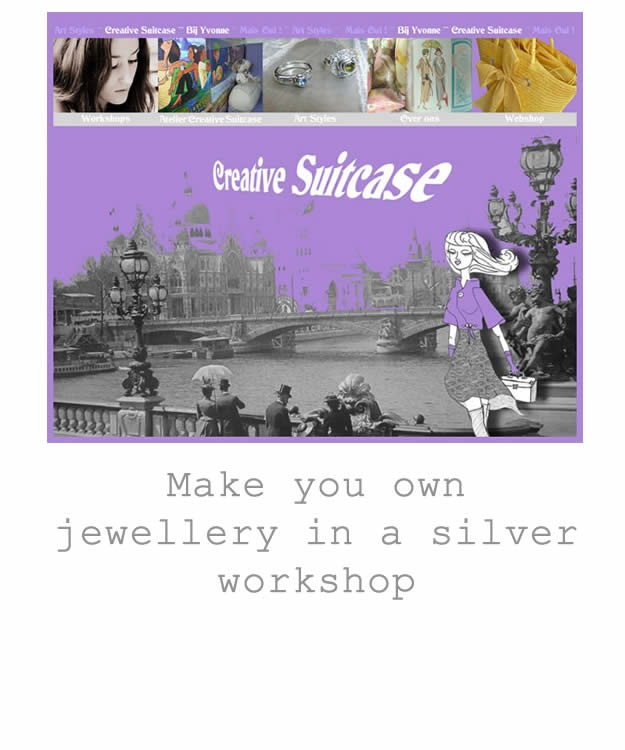 Creative Suitcase zilver Workshop