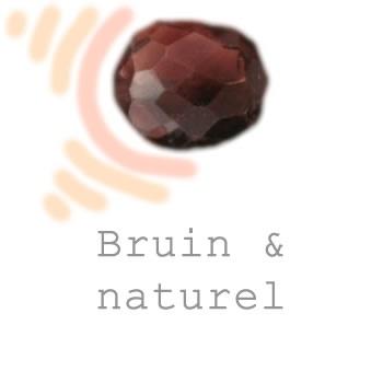 naturel en bruine sieraden