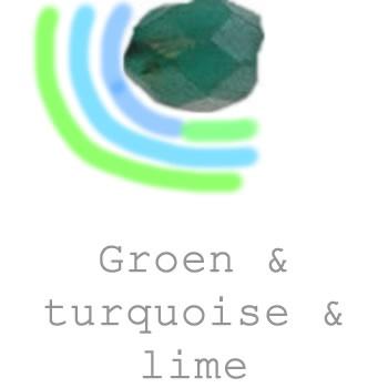 groene turquoise en lime sieraden