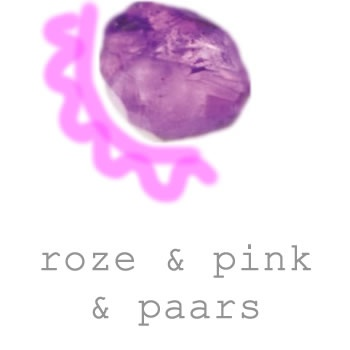 roze en paarse sieraden