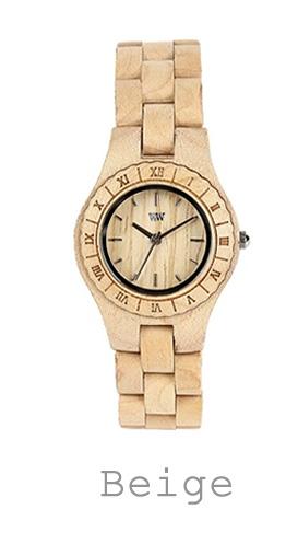 houten horloge beige WeWood