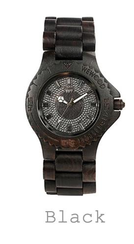 houten horloge zwart WeWood