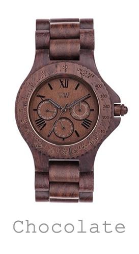 houten horloge chocolate WeWood