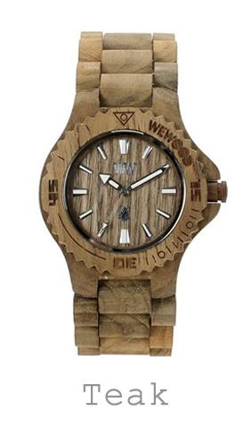 houten horloge teak WeWood