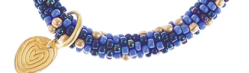 Twist armband blauw