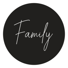 muurcirkel Family zwart 20 cm