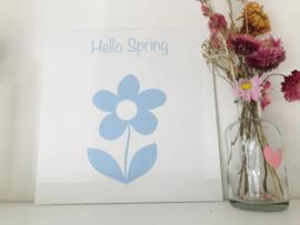 Canvaspaneel I Hello spring