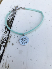 *Sisie* leren armband turquoise