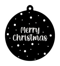 Kersthanger Merry Christmas zwart