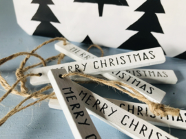Wooden label Merry Christmas
