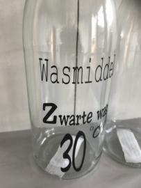 Fles voor zwarte was(middel)