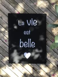 Woonpaneel I canvasI La vie est belle