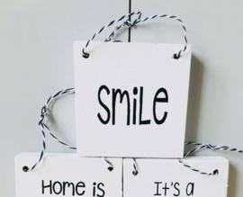 Smile houten bordje