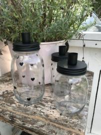 Candle Jar I M I zwart