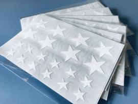sterren stickers wit