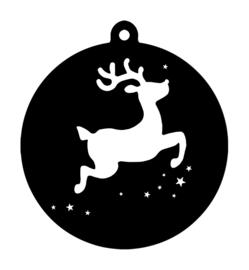 Kersthanger rendier zwart