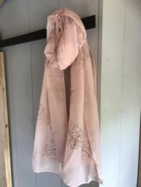 Sjaal zalm/roze