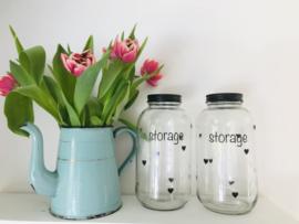 Glazen pot I storage
