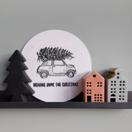 muurcirkel Driving home for christmas 30 cm