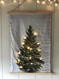 Fluweel doek met kerstboom led