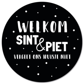 Muurcirkel welkom Sint & Piet