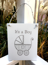 """Paneel kinderwagen """" it's a boy"""""""