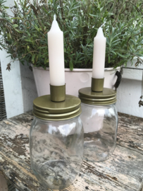 Candle jar I M I goud